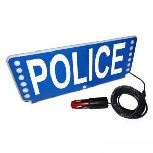Plaque pare-soleil Police lumineux Federal Signal FSX sun visor