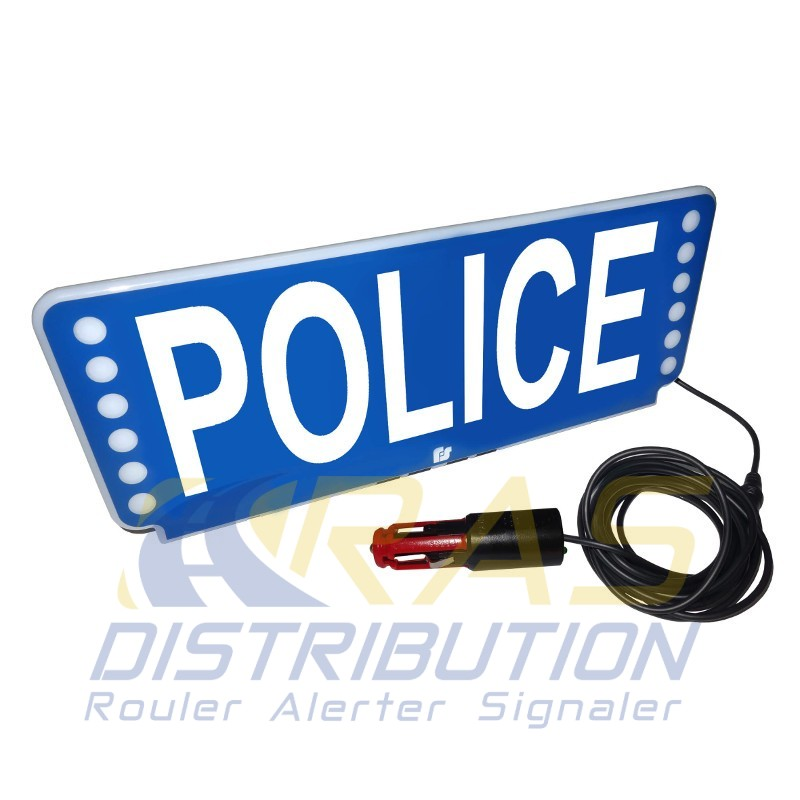 plaque pare soleil police lumineux led fsx federal signal. Black Bedroom Furniture Sets. Home Design Ideas