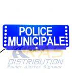 Plaque pare-soleil lumineuse FSX POLICE MUNICIPALE