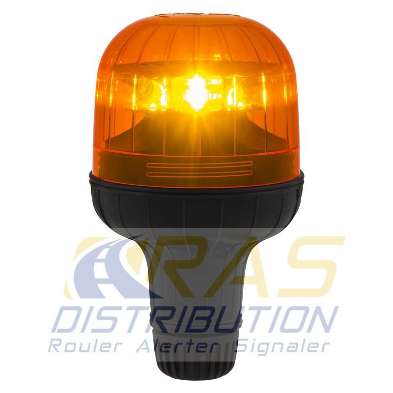 gyrophare eurorot sirena flx led orange avec fixation pour hampe. Black Bedroom Furniture Sets. Home Design Ideas