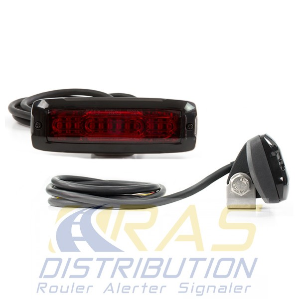 Feux flash led moto rouge XT12
