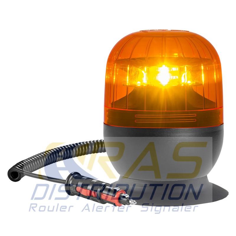 gyrophare led eurorot orange magn tique ventouse homologu r65. Black Bedroom Furniture Sets. Home Design Ideas
