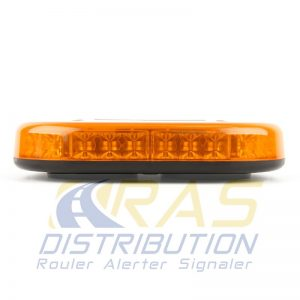 Mini rampe gyrophare rechargeable orange magnétique Microbar orange