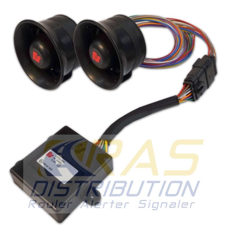 Module Pompier sirene 2 tons ASX700 Federal Signal avec 2 HP AL-ASX