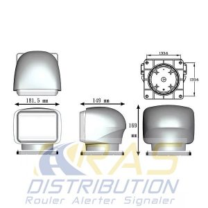 Projecteur 12V 24V LASER phare de recherche motorisé et orientable à LED