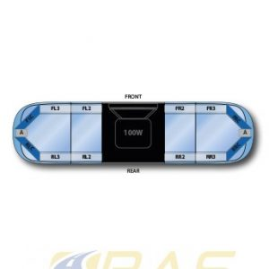 Rampe gyrophare AEGIS bleue 121 cm avec haut-parleur 100W.jpg
