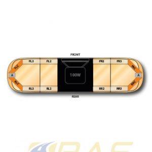 Rampe gyrophare AEGIS orange 121 cm avec haut-parleur 100W.jpg