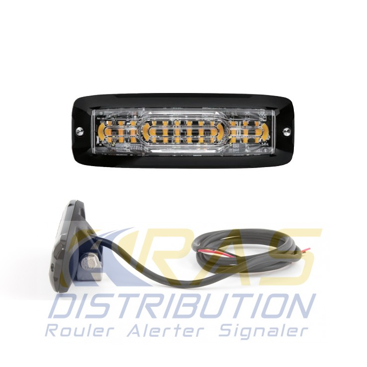 Feu LED moto orange feux stroboscopique à éclats XT12