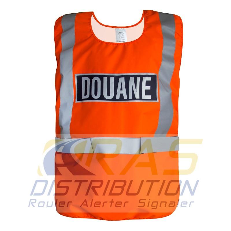 Chasuble douane orange Gilet douanes orange fluo haute visibilité