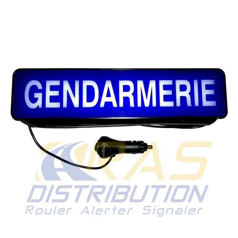 Pare-soleil Gendarmerie lumineux plaque avec clip