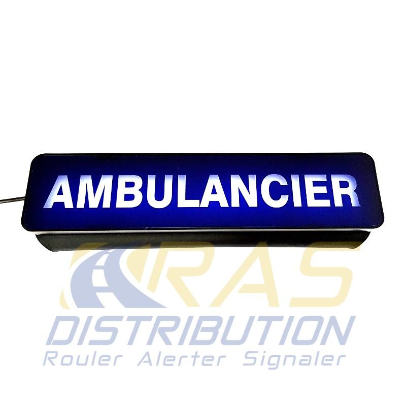 Plaque pare-soleil ambulancier lumineuse