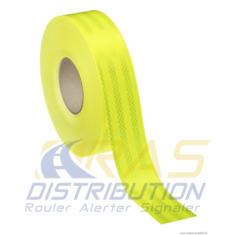Bande fluorescente 3M jaune citron