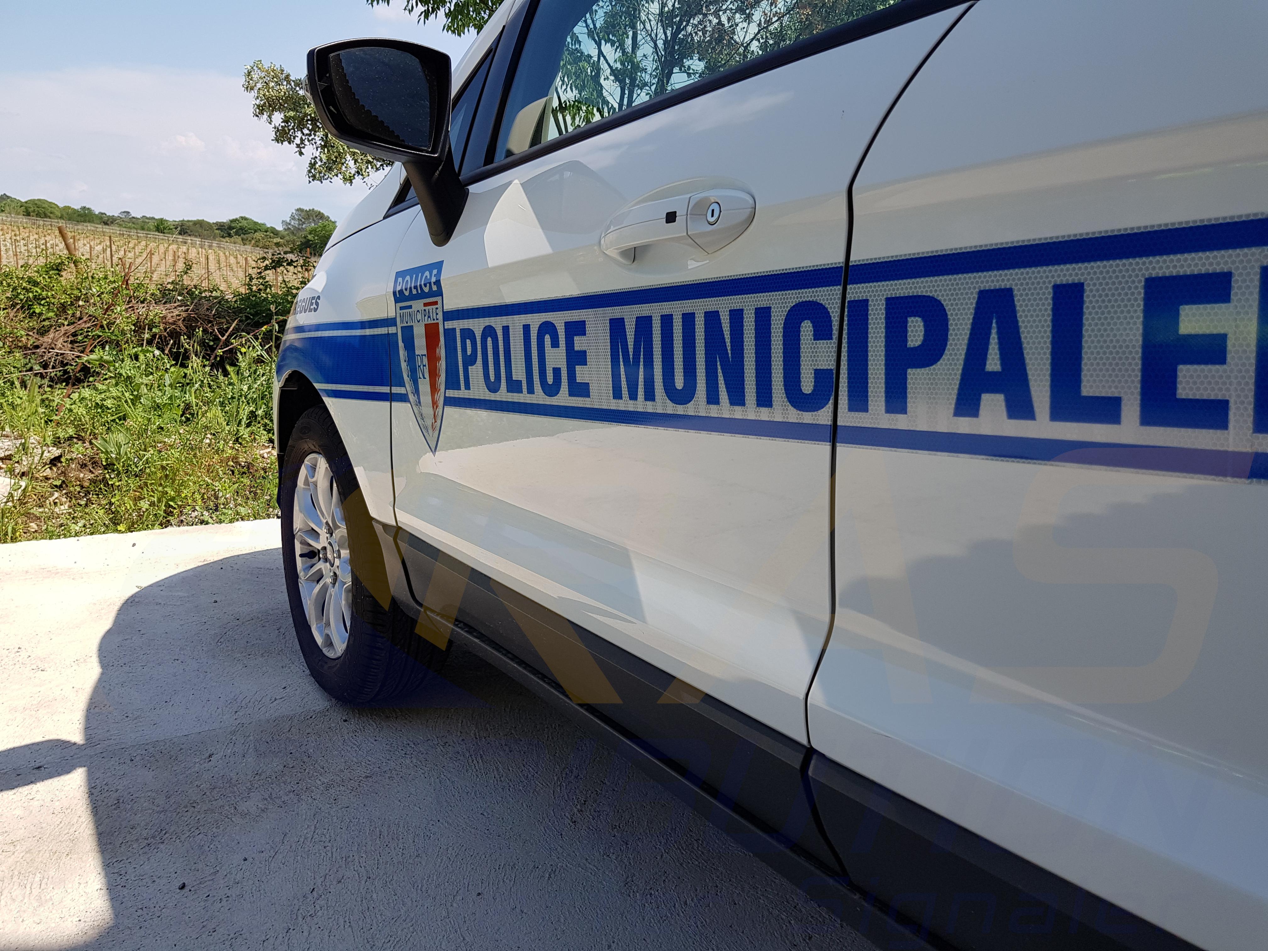 Sérigraphie Police Municipale Montpellier RAS DISTRIBUTION
