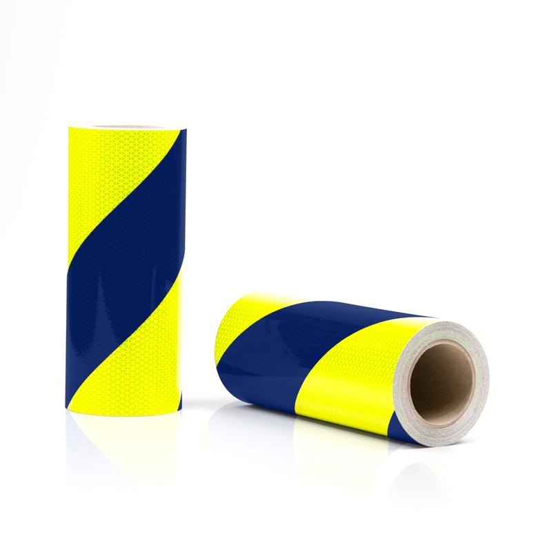 Rouleaux de balisage jaune-bleu pour véhicule d'urgence
