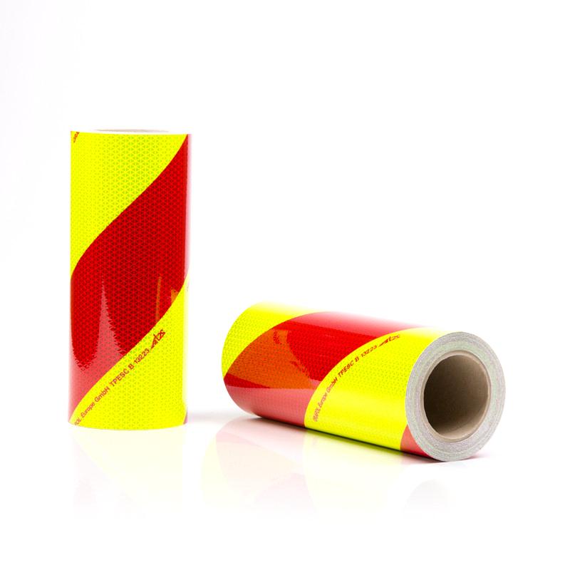 Rouleaux de balisage jaune rouge pour véhicule de secours et d'incendie