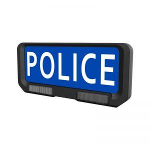 Pare-soleil Police avec feux de pénétration