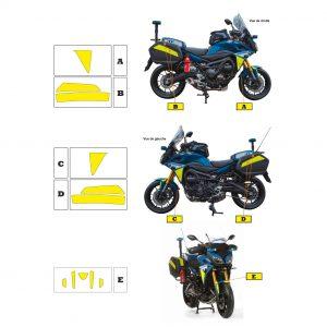 Kit jaune fluo Yamaha MT09 Gendarmerie 2018