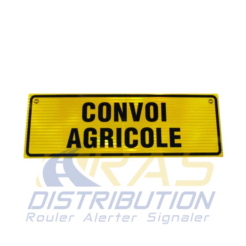 Panneau convoi agricole aluminium 1200x400 mm