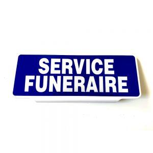 Plaque pare-soleil Service funéraire