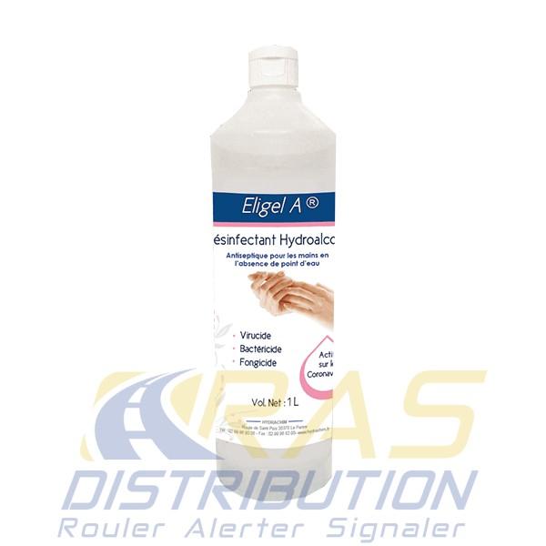 Gel Hydroalcoolique 1L contre Coronavirus Eligel A