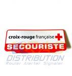 Plaque pare-soleil SECOURISTE Croix-Rouge Française rétroréfléchissante