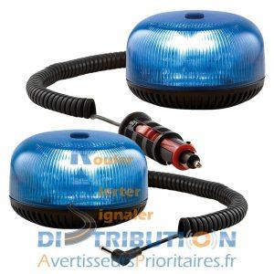 Gyrophare bleu Crystal LED Sirena Police Gendarmerie