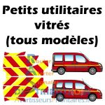 Kits prédécoupés jaune rouge pour véhicules Pompiers pu vitré