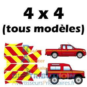 Balisage Pompiers Rouge Jaune pour véhicules tout terrain