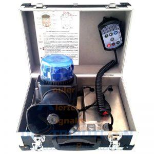 Gyrophare bleu avec sirène d'alerte aux populations tonalité Police ou SNA