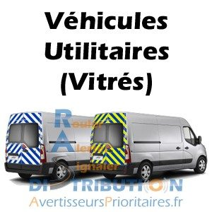 Balisage véhicule utilitaire chevrons blancs-bleu ou jaune-bleu Gendarmerie Ambulance