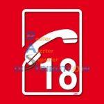 Adhésif Sapeurs-Pompiers Téléphone 18