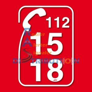 Marquage véhicule Pompier - adhésif Téléphone 18-15-112