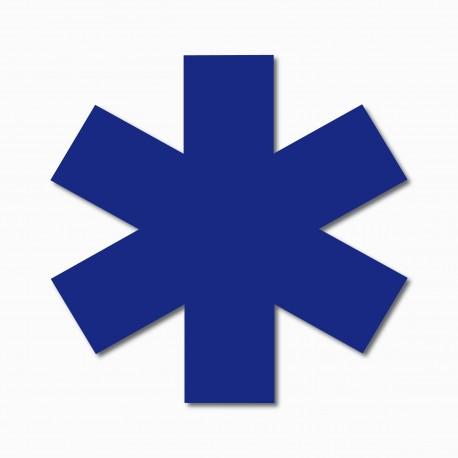 Adhésif vinyle Croix de Vie Ambulance