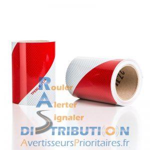 Rouleaux de balisage rouge et blanc 14 cm