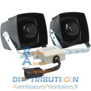 Sirène Police pour moto - FIAMM PS10 (KL643) et HP FS