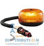 Gyrophare Crystal LED magnétique – Orange