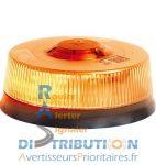 Gyrophare à LED LP400 Solaris Orange – Fixation permanente (ISO)
