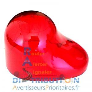 Cabochon gyrophare rouge goutte d'eau GDO