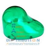 Cabochon gyrophare vert Sirena GDO goutte d'eau