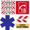 Marquages Pompier Ambulance Service Convoi