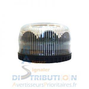 Gyroled blanc cristal simple gyrophare LED blanc