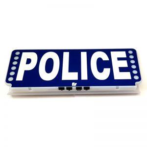 Pare-soleil Police lumineux avec feux de pénétration