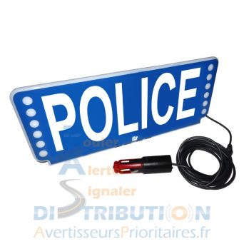 Plaque pare-soleil Police lumineux FSX Federal Signal