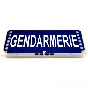 Pare soleil lumineux Gendarmerie
