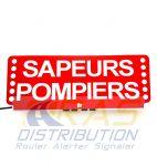 Plaque pare-soleil lumineuse FSX SAPEURS-POMPIERS