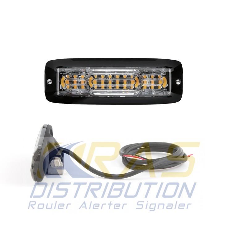 Feu LED moto orange feux stroboscopique à éclats XT12