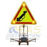 Triangle LED Triflash 700 mm AK31 Accident Film jaune fluo Classe 3
