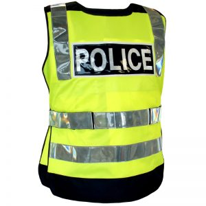 Chasuble Police Gilet jaune Police fluo haute visibilité