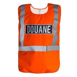 Chasuble douane orange Gilet douanes orange fluo haute visibilité