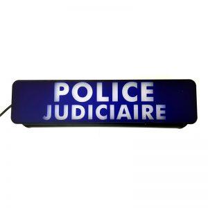Pare-soleil Police Judiciaire lumineux LED